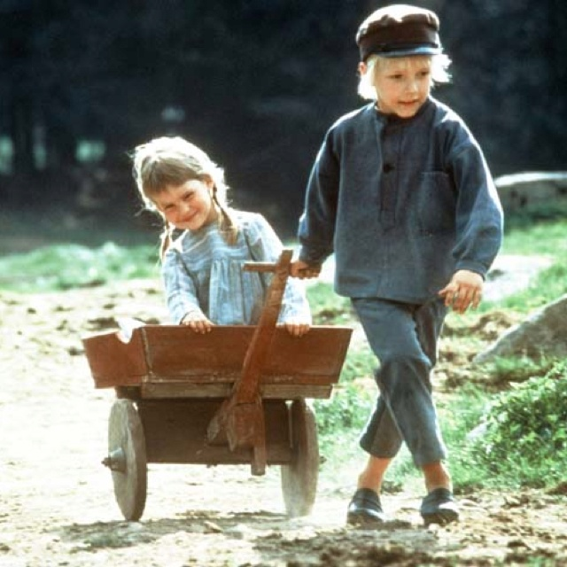 "Emil i Lönneberga af Astrid Lindgren. The novels were here made into a great tv-series with Jan Ohlsson as ""Emil"" and Lena Wisborg as his little sister ""Ida"""