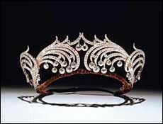 Henderskelfe Tiara, Diamond and Platinum by Cartier 1904