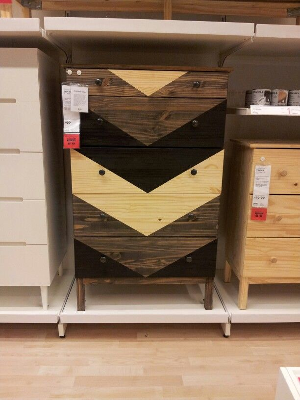 Tarva dresser with Chevron pattern!