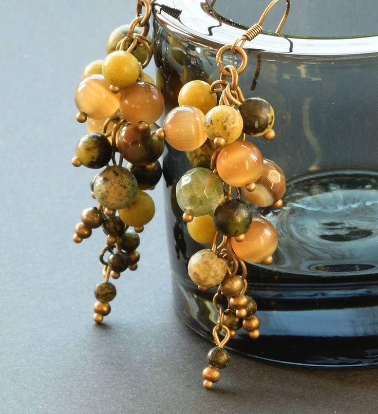 Tęsknię za Tobą... Lato. I miss you... summer. #earrings #grape #jewelry # #summermissing #gemstonesjewelry