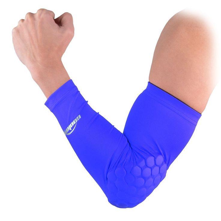 COOLOMG 1 Paar Anti Rutsch Armschoner Power Shootor Armstulpen mit Schwamm Pad für Herren XS-XL: Amazon.de: Spielzeug