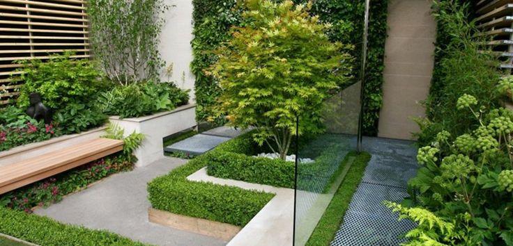 Cómo decorar jardines pequeños, claves e ideas - https://www.decoora.com/como-decorar-jardines-pequenos-claves-e-ideas/