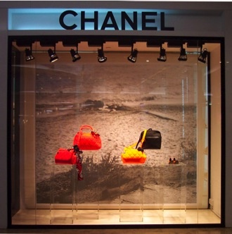 Iconic brand Chanel incorporates the use of vintage images with today's must have accessories to reinforce the timelessness of their brand and products.