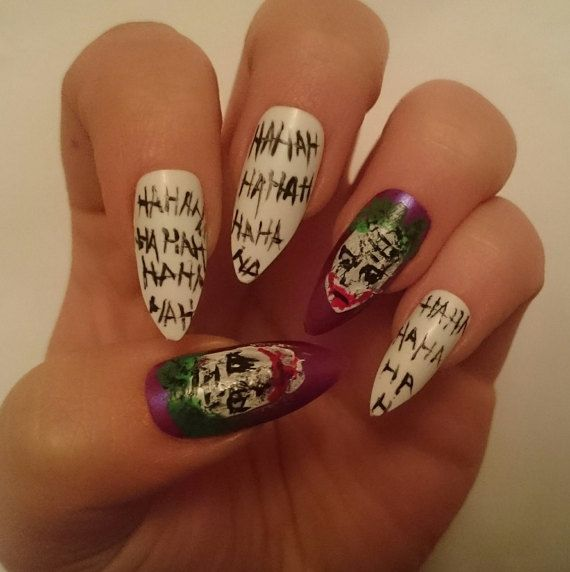 The Joker Glue On False Nails By Nicolasnails14 Squad Why