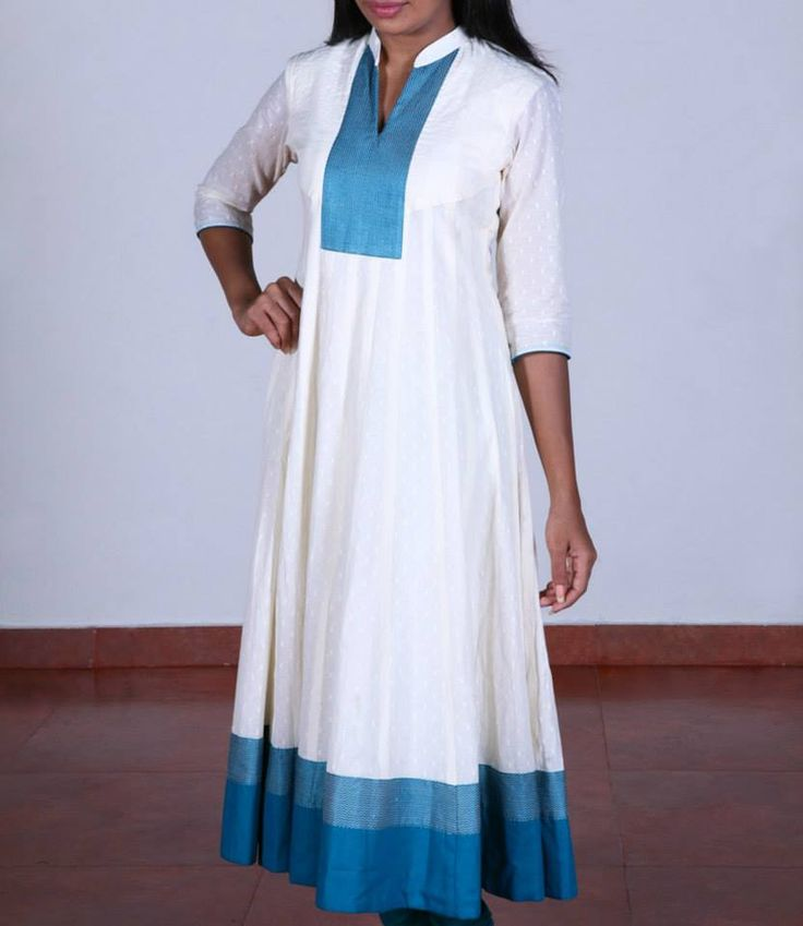 Shop for this collection at http://www.shalinijamesmantra.com/classic-creme/off-white-with-sea-green-anarkali.html