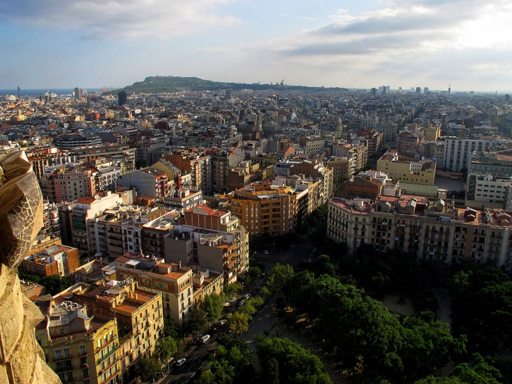 Barcelona from the top of the Sagrada Familia