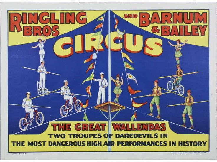 Image result for ringling brothers poster 1930s