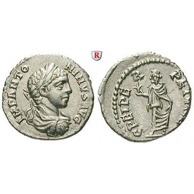 Römische Kaiserzeit, Elagabal, Denar 218-222, vz: Elagabal 218-222. Denar 18 mm 218-222 Rom. Drapierte und gepanzerte Büste r. mit… #coins