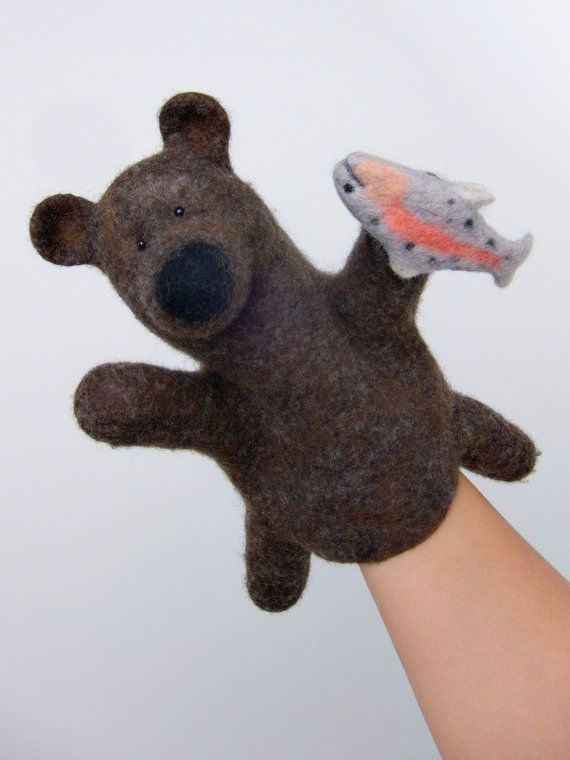 very experienced old and fishy fox number 3 wet felted by bibabo