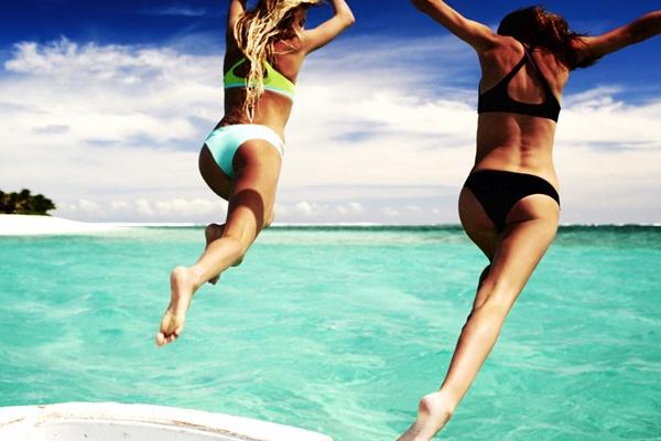 Rip Curl bikinis on Alana Blanchard #surfergirl Mirage series for women.