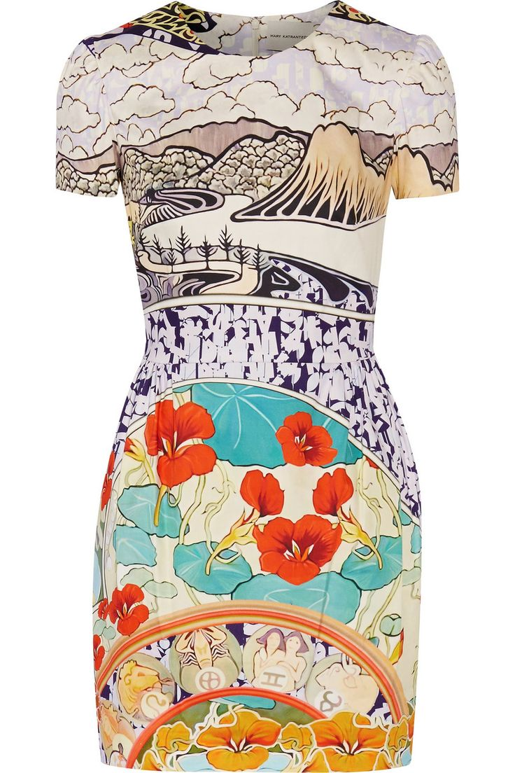 Mary KatrantzouLiv printed cotton-blend mini dress