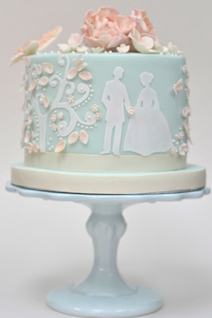 Blue Fairytale Wedding Cake - it needs a bit of tweaking but i like it