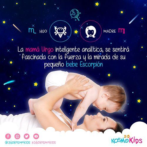 Mamá #Virgo y su hijo #Escorpión tomarán la vida muy en serio. Aprende más sobre tu relación con tus hijos! #360KosmoKids #Astrología