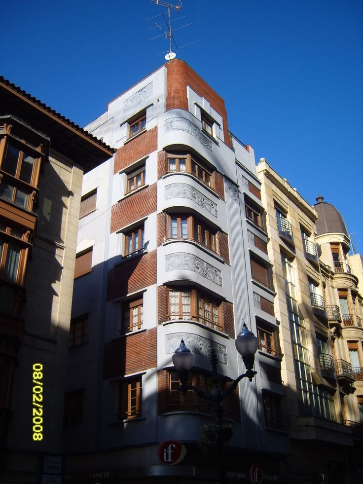 Art d co building in gij n asturias spain art d co - Art deco espana ...