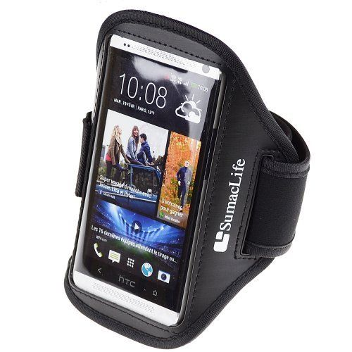 SumacLife GYM Sports Running Armband for HTC ONE M7 HTC Desire 606w HTC ONE X HTC ONE S HTC ONE VX (AT&T ; Spront ; T-Mobile) (0-Black). SumacLife armband fit for HTC ONE HTC ONE X HTC ONE S and more. Case dimension :6.3×1×3.8 inch.Note : Please check your device dimension whether suit this case before purchasing. Full screen protector allows full touch screen functionality.SumacLife Armband Case protects your devices without hassle. Adjustable Armband gives you the versatility of…