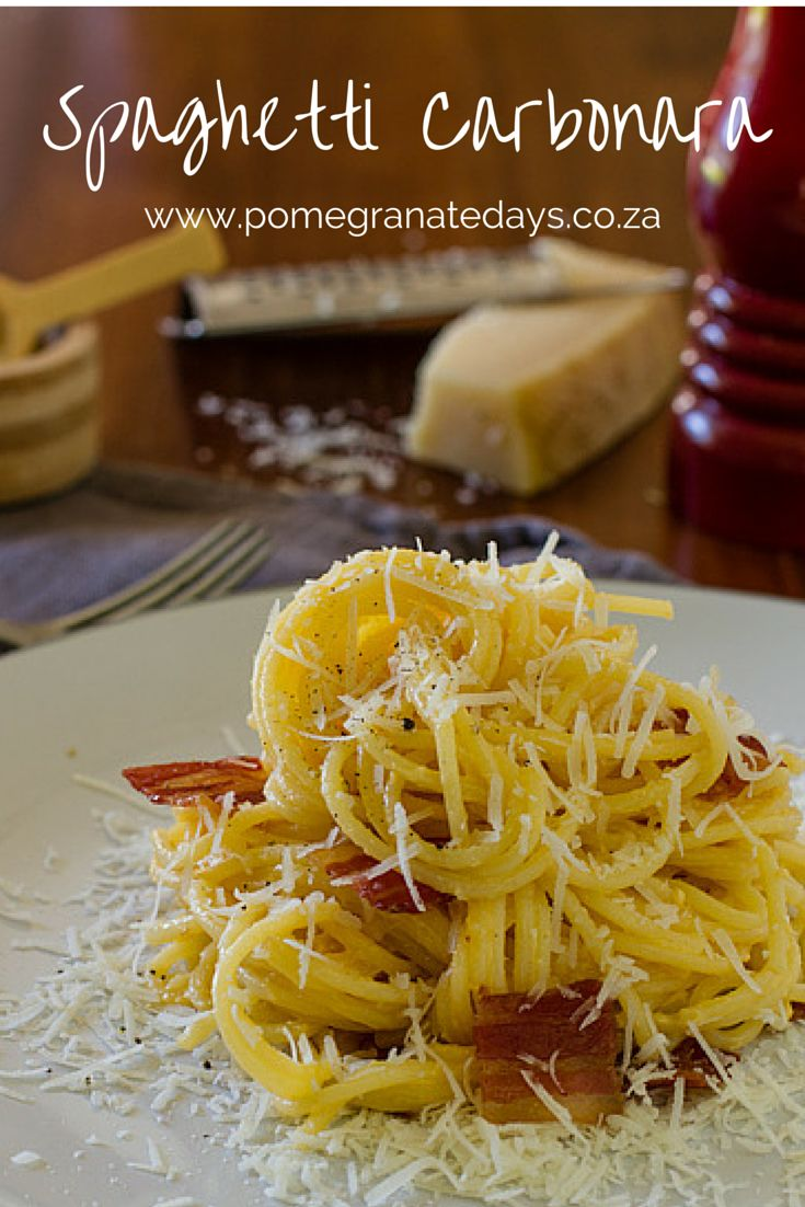 Spaghetti Carbonara is an easy dinner recipe. Weekday food needs to be simple and quick to prepare.  This pasta recipe is a classic and the recipe given is that of Marco Pierre White when he prepared it on Masterchef Australia.  One of my favourite chefs and recipes.