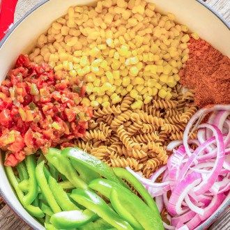 One Pot Wonder Southwest Pasta- could add leftover crockpot chicken to add more protein I could turn this into a meal in a jar recipe!