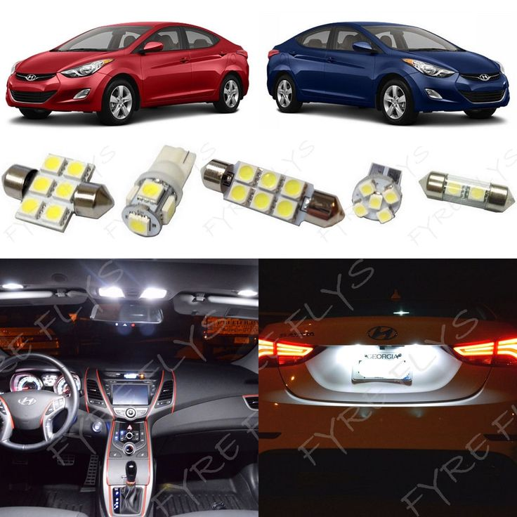 8x White LED light interior package kit for 2011-2016 Hyundai Elantra YE1W   eBay Motors, Parts & Accessories, Car & Truck Parts   eBay!