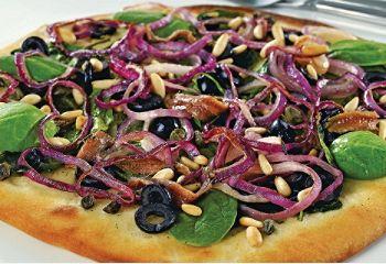 Idée repas du mardi soir…   Une pizza croûte mince à la sicilienne, à accompagner d'un #Merlot! #vin