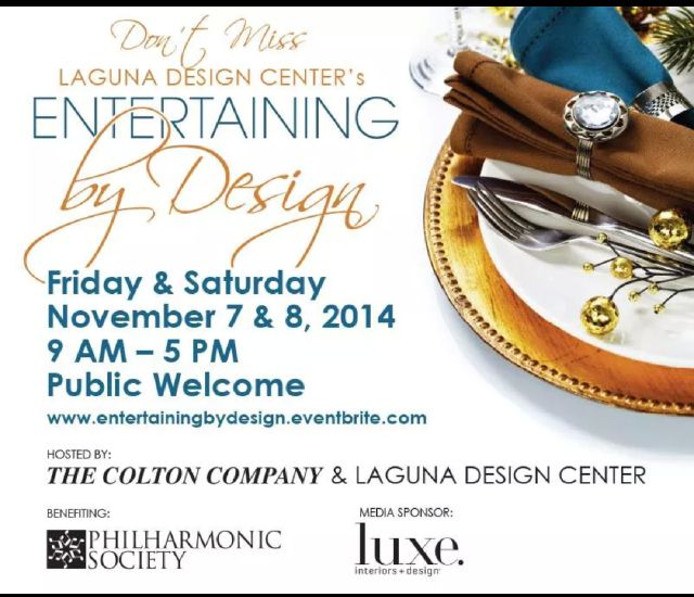 Laguna Design Center Nov. 7th & 8th.