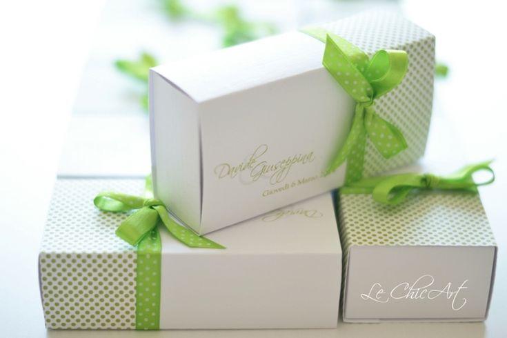 promessa di matrimonio scatole porta confetti e