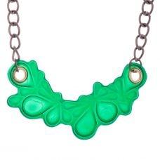 MeDusa Moon Necklace - Green: Pendant Necklace, Green Stuff, Chain Necklaces, Fierce Accessories, Medusa Moon, Moon Necklace
