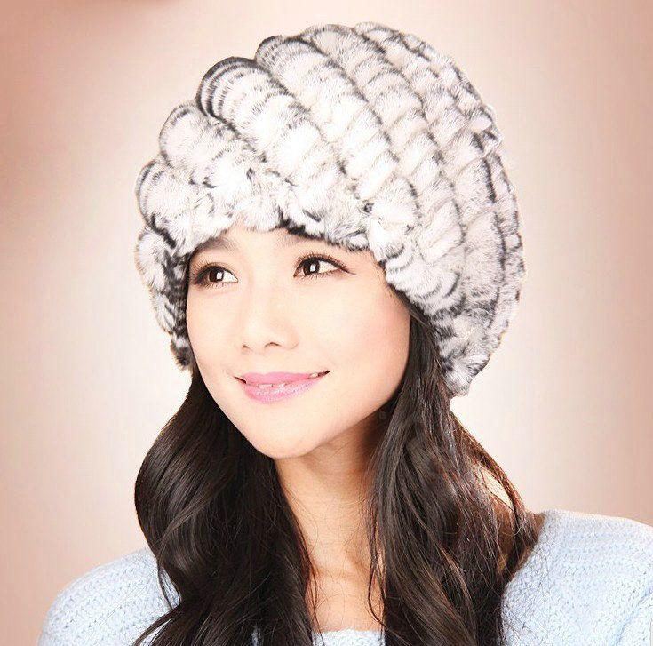 Women Long Faux Rabbit Fur Winter Snow Hat Full Fur Cap Warm Thick Beret Beanies