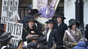 The upcoming film <i>Suffragette</i>, starring Meryl Streep and Carey Mulligan.