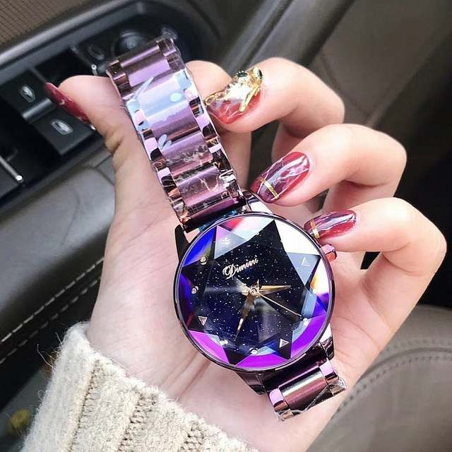 Reloj De Pulsera De Mujer De Cristal De Marca De Lujo 2018 Reloj De Moda De Cuarzo De Oro Rosa Relojes De Pulsera De Joyeria De Lujo Reloj Pulsera Reloj De Oro