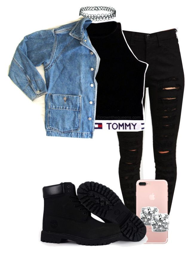 """""""Untitled #10"""" by ayepaigee on Polyvore featuring BERRICLE, Topshop, Timberland and GUESS"""