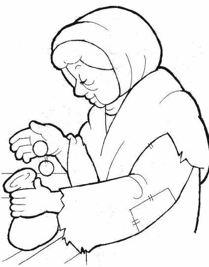 widows mite coloring pages | widow's mite coloring page | The Widow's Offering | bible ...