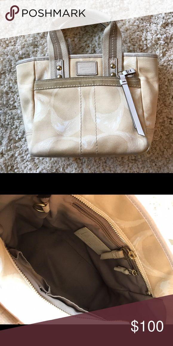 Coach tote bag (small) Small cream tote bag Coach Bags Mini Bags