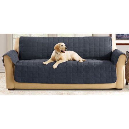 Sofa Covers Sure Fit Ultimate Waterproof Quilted Pet Sofa Cover Blue