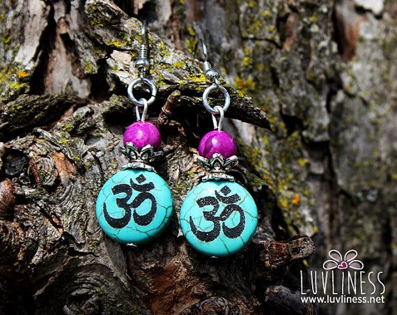 Divine Communication Turquoise & Sugilite Dangle by luvliness
