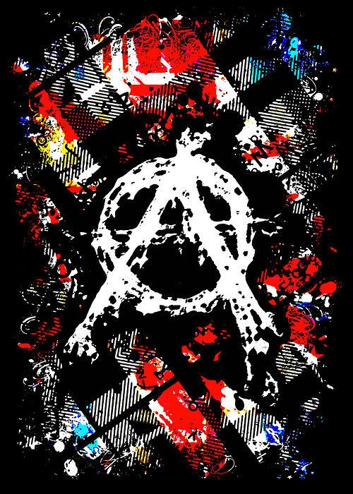 Anarchy Punk Poster By Roseanne Jones