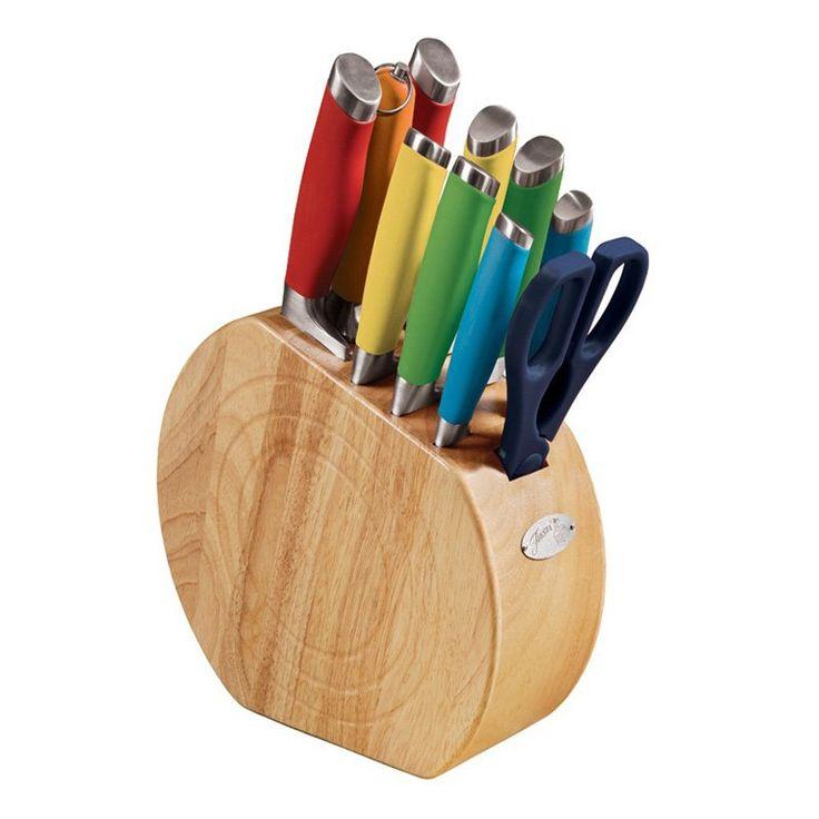 Have to have it. Fiesta Multicolor 11 Piece Knife Block Set - $138.99 @hayneedle.com