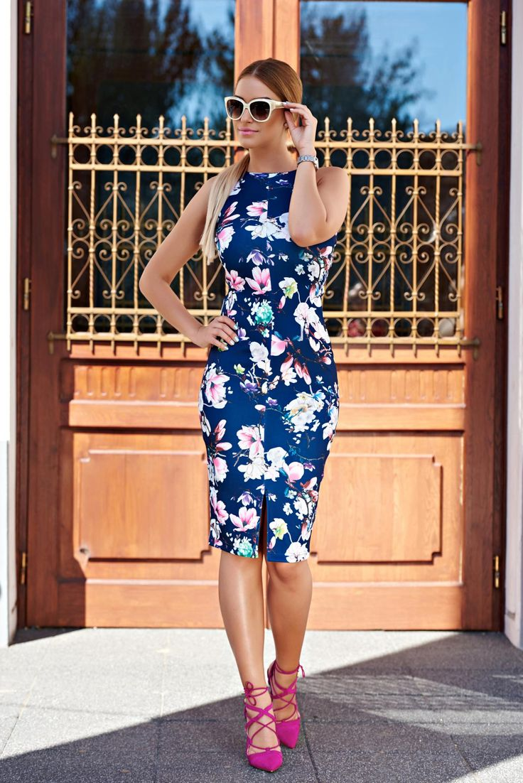 Rochie StarShinerS Color Prestige DarkBlue. Rochie de zi realizata din material…