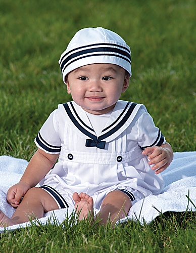 Baby Boy Sailor Outfit from Sarah Louise at Little ...
