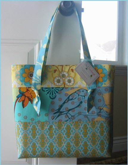 """""""French Riviera"""" fabrics bag by Clutterbags #sewing"""