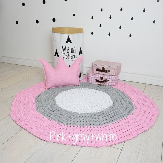 Crochet Round Rug Children Crochet Rug Cotton Yarn Rug Mat