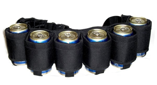 The Beer Belt - Black | Tailgating Gear Store | Be the envy of the parking lot #Ultimate Tailgate #Fanatics