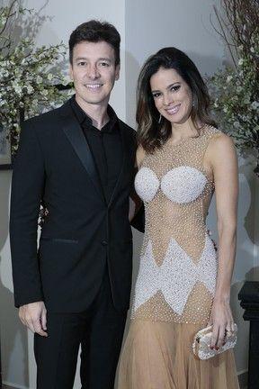Rodrigo Faro e Vera Viel em evento em São Paulo (Foto: Rafael Cusato/ Brazil News)