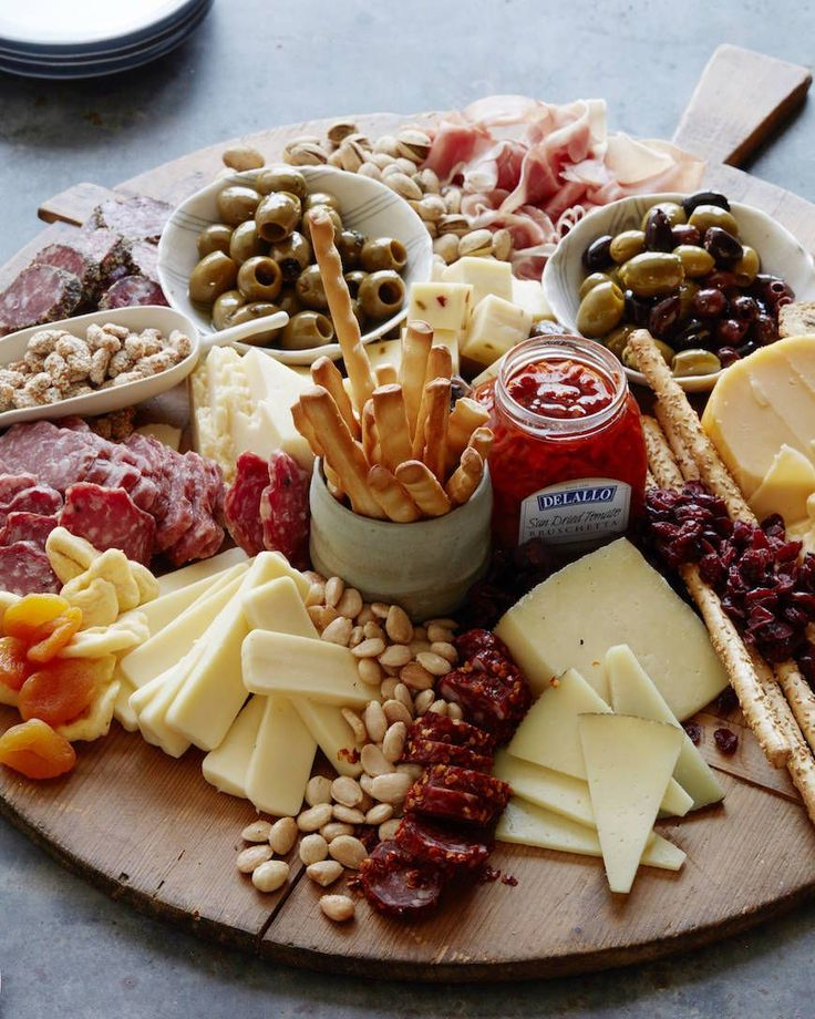 Cheese and Appetizer Board from What's Gaby Cooking