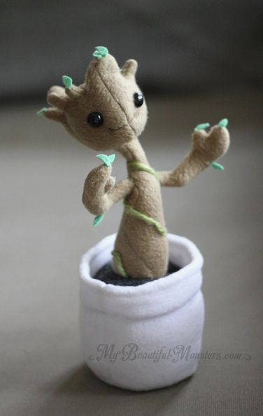 Baby Groot Plush by MyBeautifulMonsters on DeviantArt cute kawaii felt mini figure of a mandrake root baby harry potter inspired felt craft