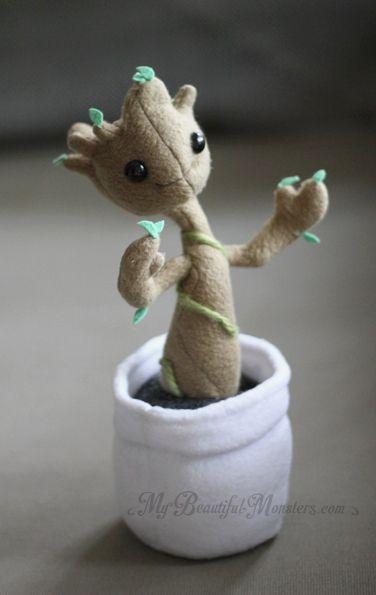 Baby Groot Plush by MyBeautifulMonsters on DeviantArt cute kawaii felt mini figure of a mandrake root baby harry potter inspired felt craft