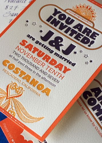Beatles-go-to-India wedding theme via Peculiar Pair Press.  Seen on Oh So Beautiful Paper: Invitations Wedding, Wedding Themes, Colors Jenn, Wedding Receptions, Blocks Style, Wedding Invitations, Birthday Love, Style Letters, My Style