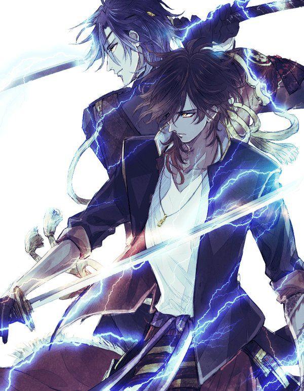 Anime Characters Fighting : Touken ranbu shokudaikiri mitsutada ookurikara 刀剣乱舞