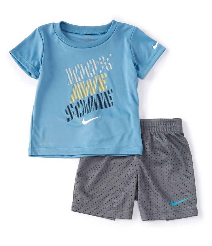 Nike Baby Boys 12-24 Months Short-Sleeve 100% Awesome Tee ...