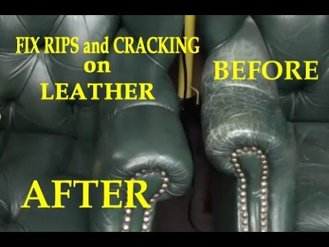 Leather Filler - Repairing Leather & Vinyl - YouTube