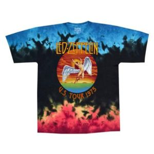 Led Zeppelin Icarus 1975 Tie-Dye T-Shirt - Get as high as the sun with this Led Zeppelin Icarus 1975 tie-dye t-shirt featuring official Led artwork.